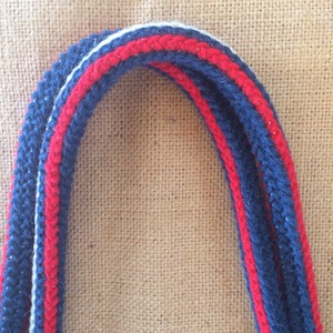 Arraiolos strap stripe in nautical red white blue