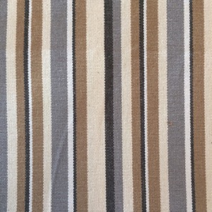 Canvas multi stripe beige & grey & brown