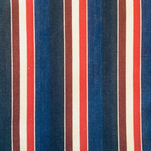Canvas multi stripe red, white & blue