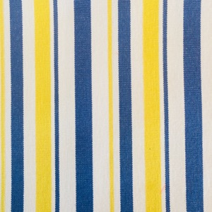canvas multi stripe white, yellow & blue